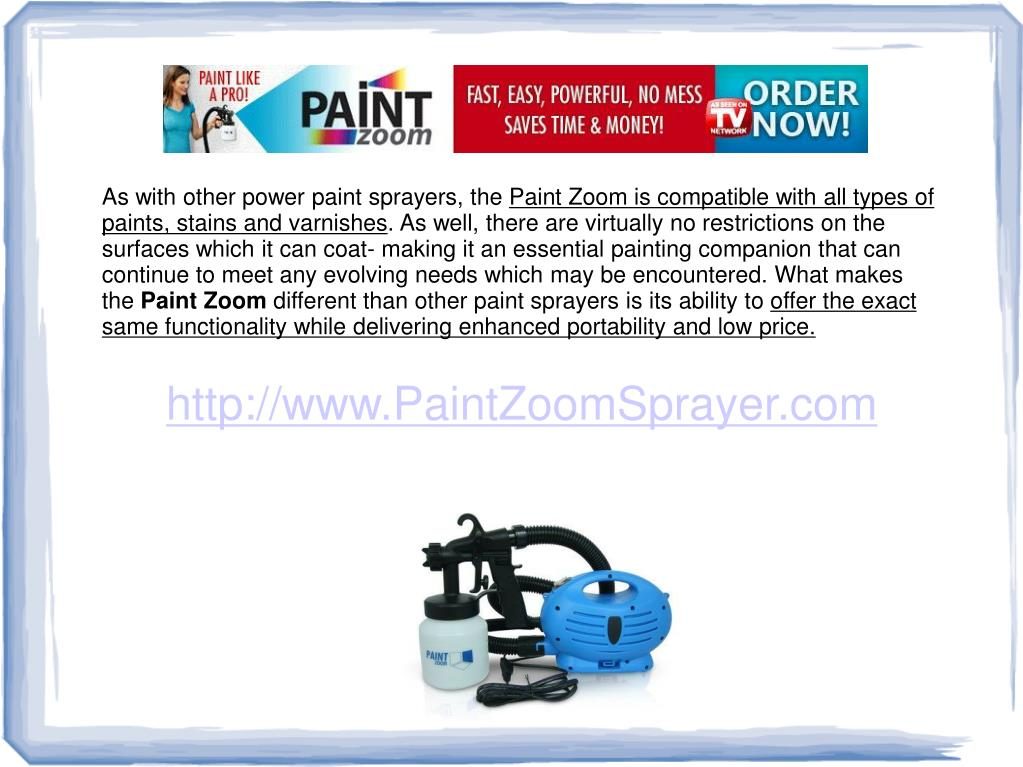 As with other power paint sprayers, the