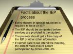 facts about the iep process
