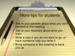 more tips for students