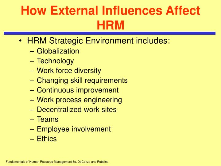 How External Influences Affect HRM