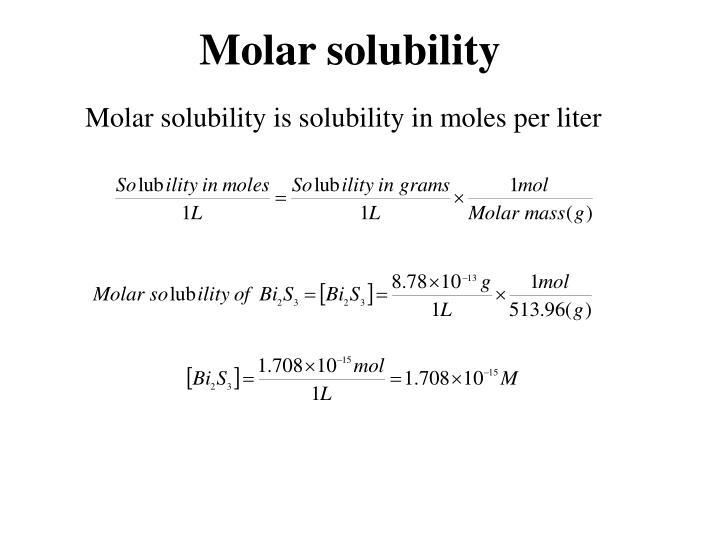 Molar solubility