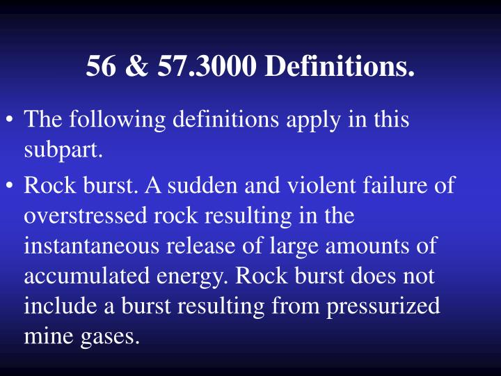 56 & 57.3000 Definitions.