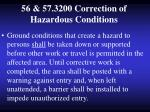 56 57 3200 correction of hazardous conditions
