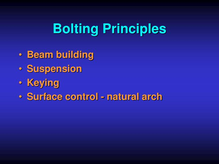 Bolting Principles