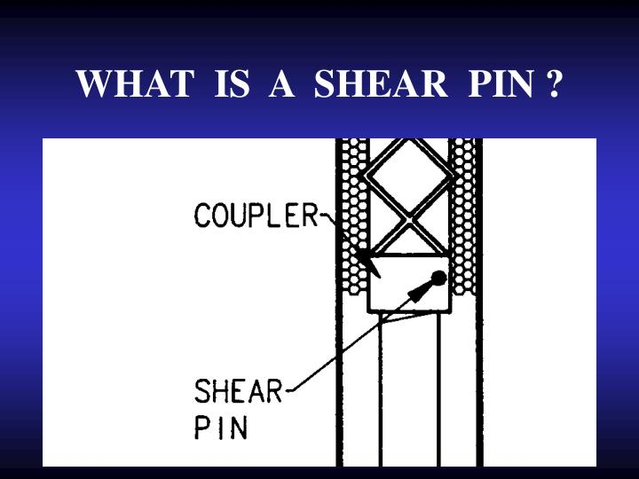 WHAT  IS  A  SHEAR  PIN ?