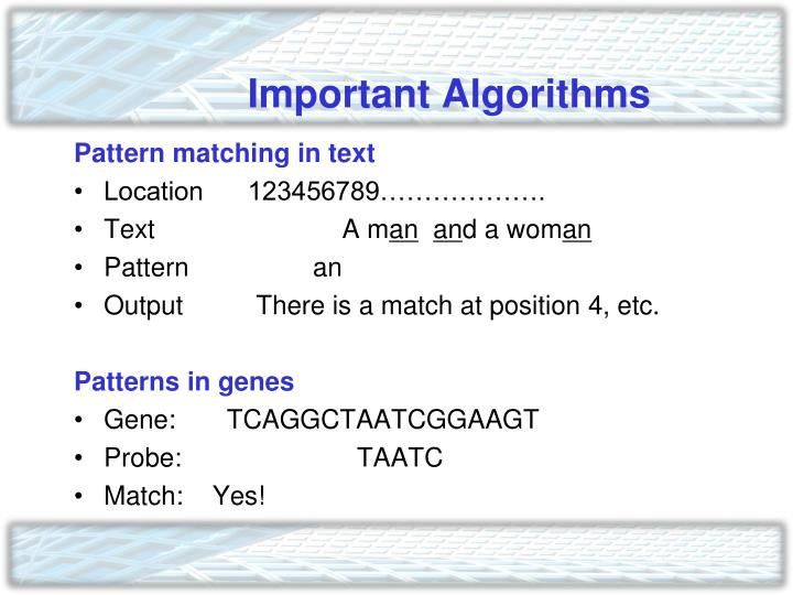 Important Algorithms