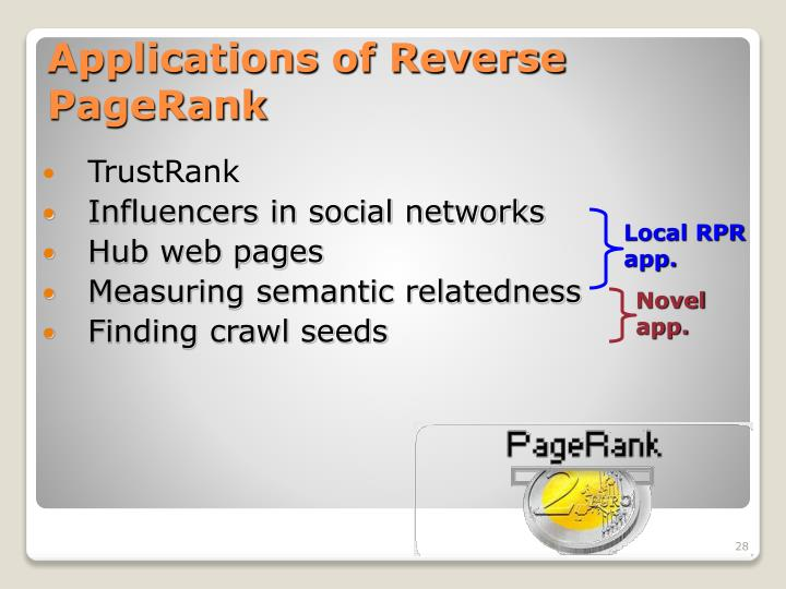 Applications of Reverse PageRank