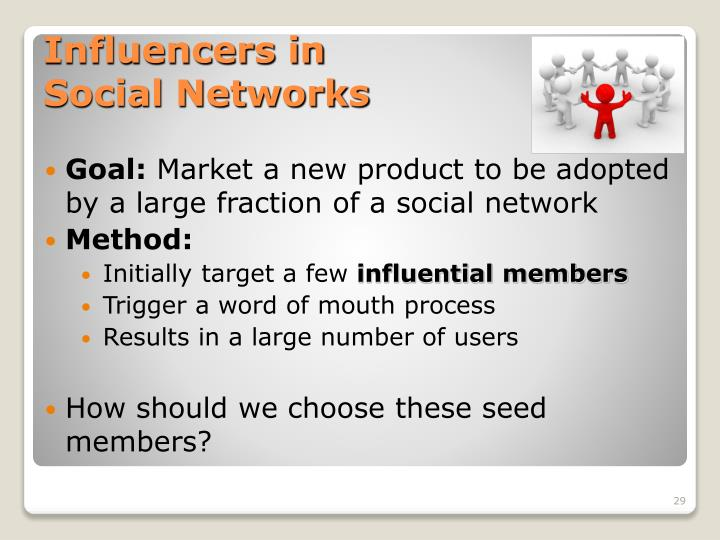 Influencers in