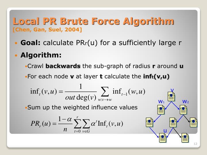 Local PR Brute Force Algorithm