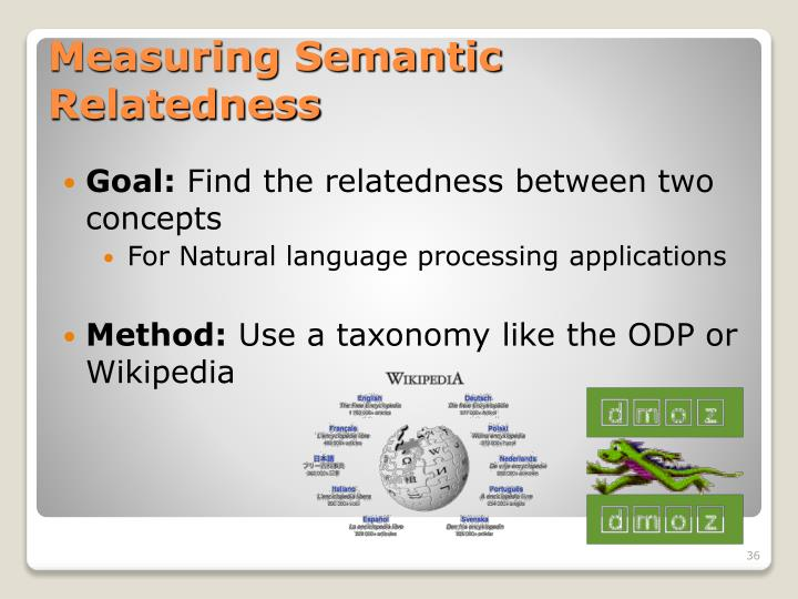Measuring Semantic Relatedness