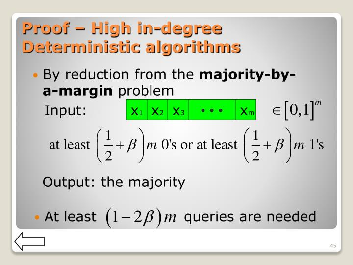Proof – High in-degree Deterministic algorithms