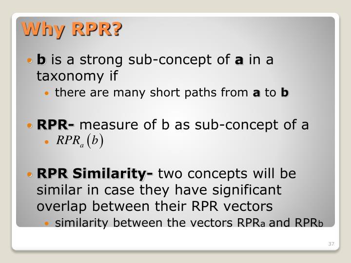 Why RPR?