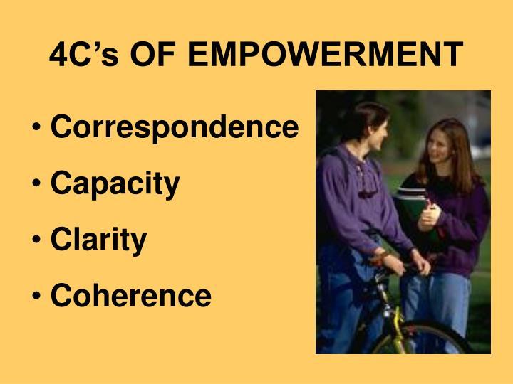 4C's OF EMPOWERMENT