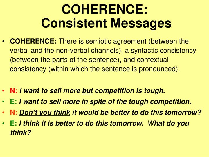 COHERENCE: