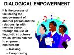dialogical empowerment
