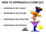 how to approach a conflict