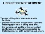linguistic empowerment1