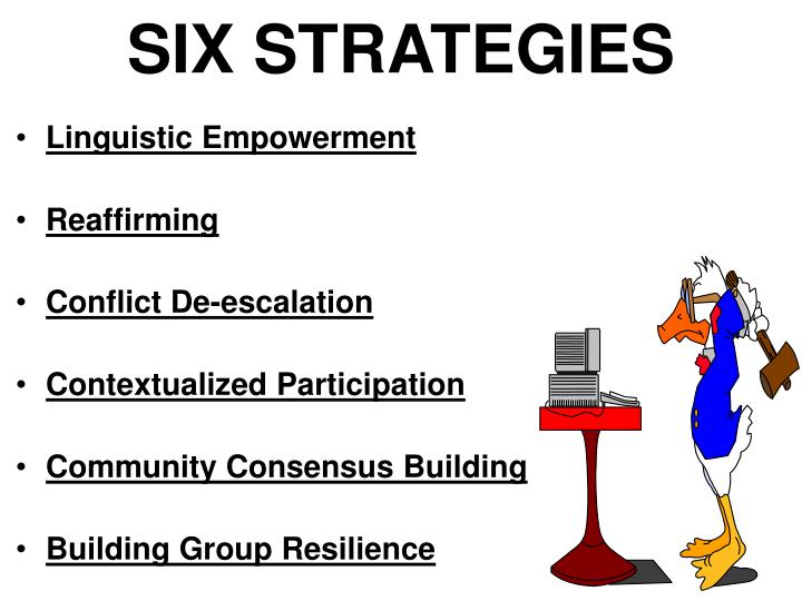 SIX STRATEGIES