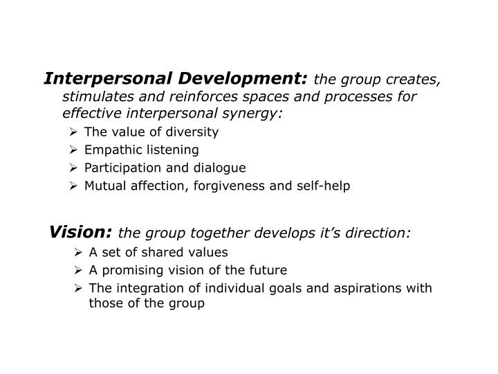 Interpersonal Development:
