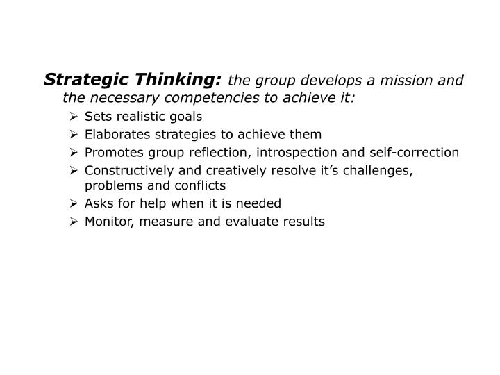 Strategic Thinking:
