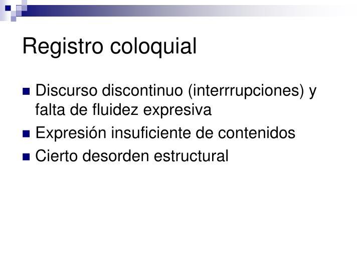 Registro coloquial