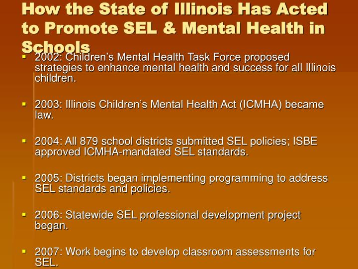 How the State of Illinois Has Acted to Promote SEL & Mental Health in Schools