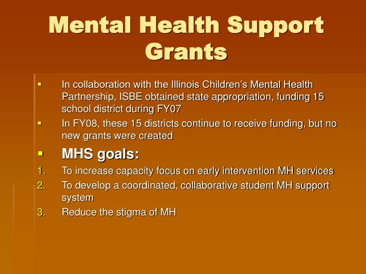 Mental Health Support Grants