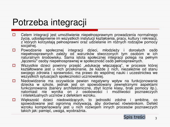 Potrzeba integracji