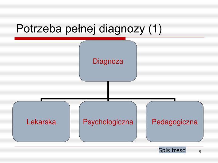 Potrzeba pełnej diagnozy (1)