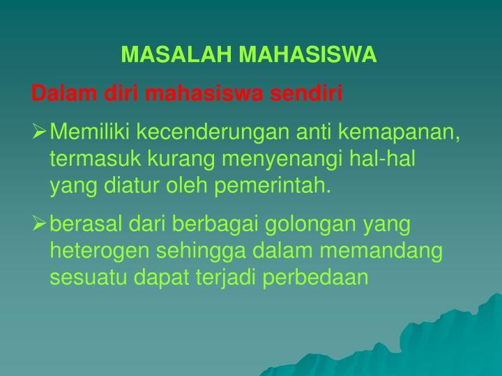 MASALAH MAHASISWA