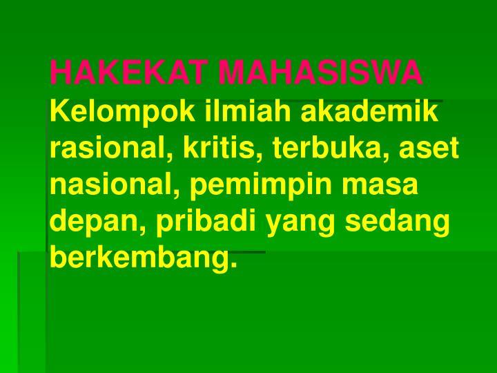 HAKEKAT MAHASISWA