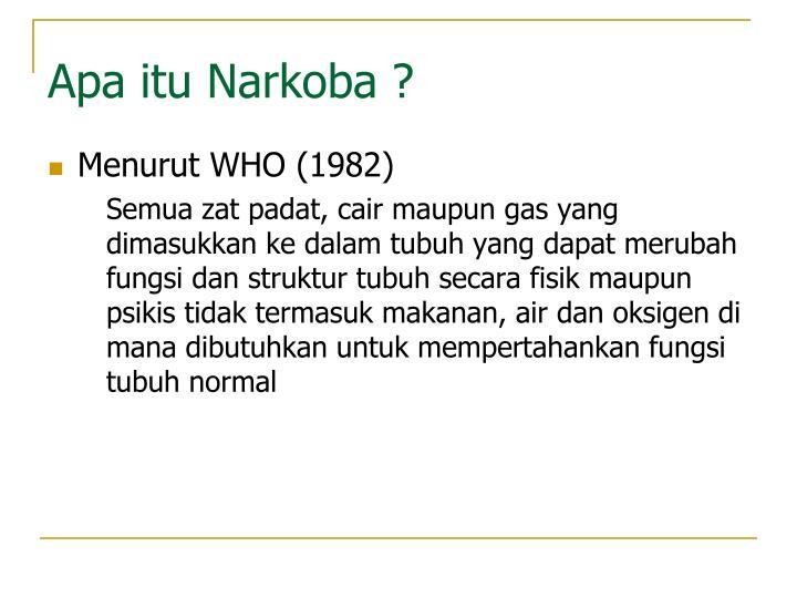 Apa itu Narkoba ?