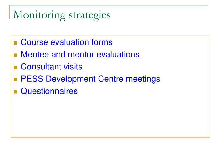 Monitoring strategies