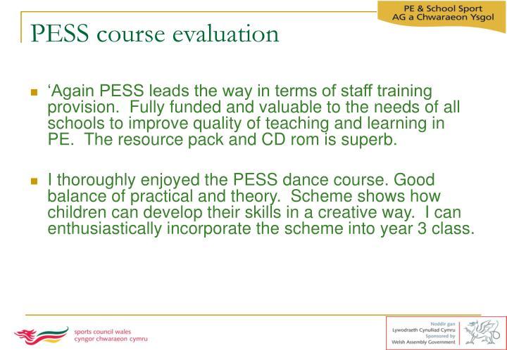 PESS course evaluation