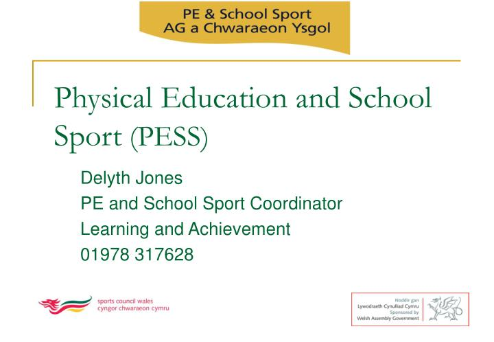 Physical education and school sport pess
