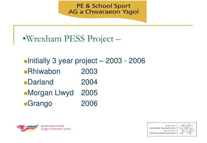 Wrexham PESS Project –