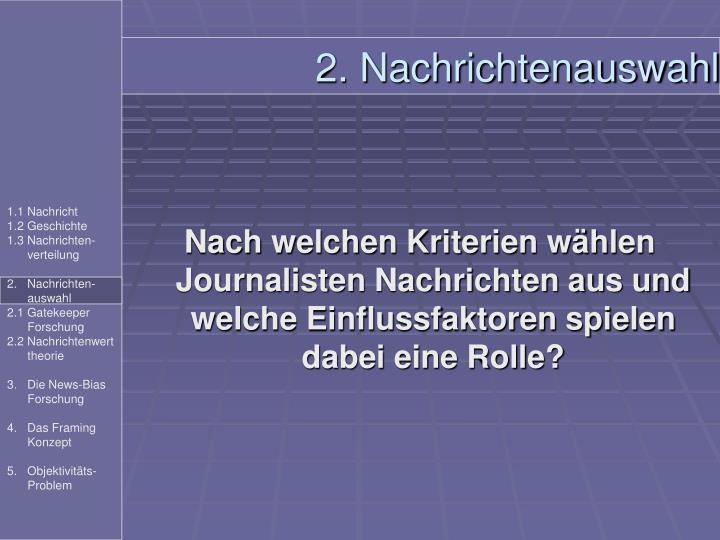 2. Nachrichtenauswahl