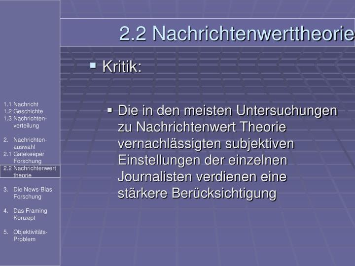 2.2 Nachrichtenwerttheorie