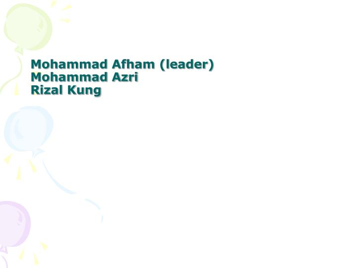 Mohammad Afham (leader)