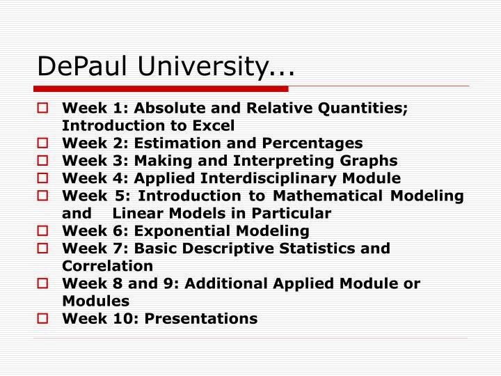DePaul University...