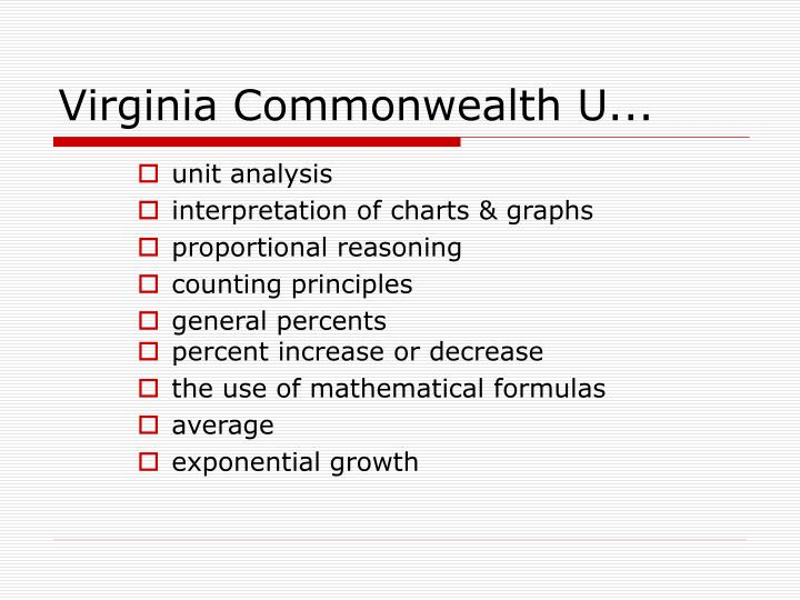 Virginia Commonwealth U...