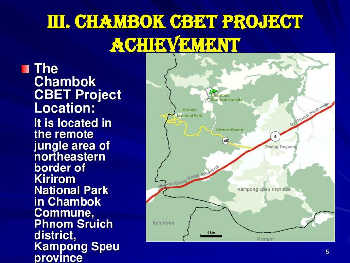 III. Chambok CBET Project Achievement