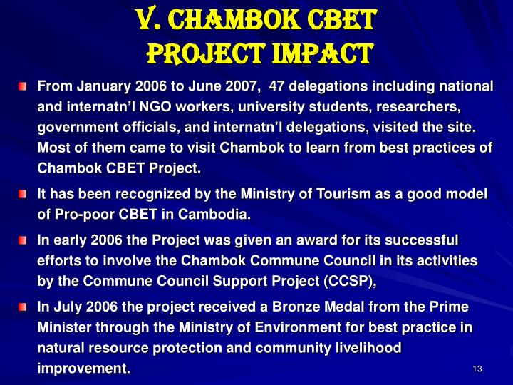 V. Chambok CBET