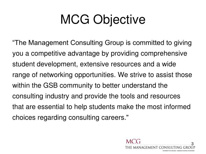 MCG Objective