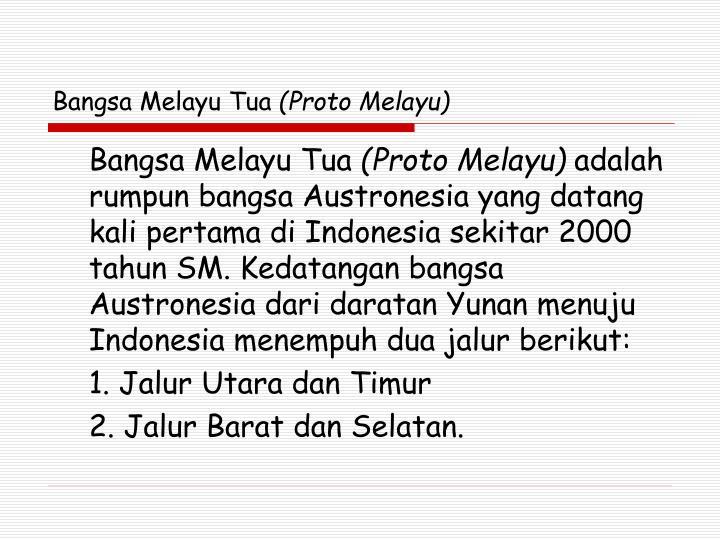 Bangsa Melayu Tua