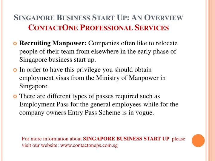 Singapore Business Start Up: An Overview