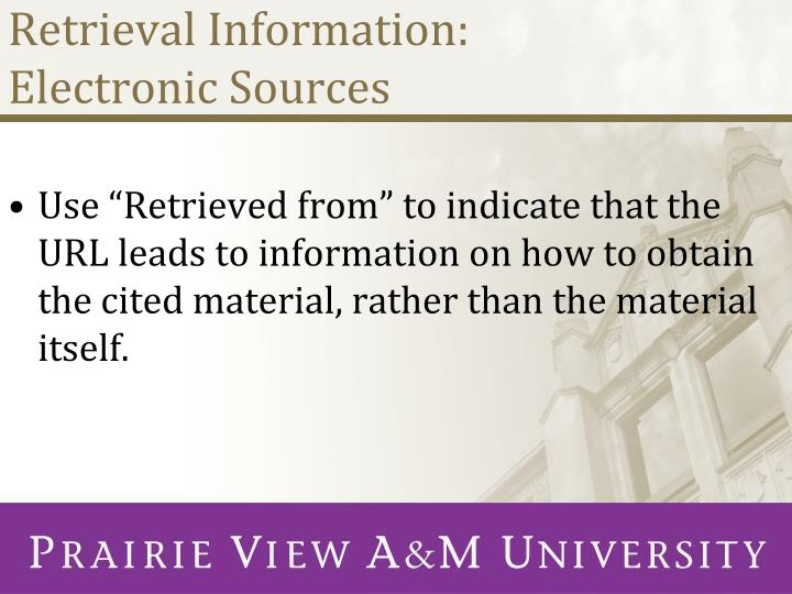 Retrieval Information: