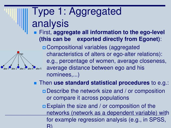 Type 1: Aggregated analysis