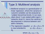 type 3 multilevel analysis