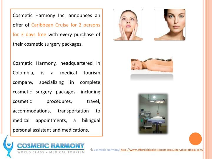 Cosmetic Harmony Inc. announces an offer of